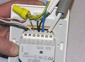 Подключение терморегулятора для инфракрасного теплого пола