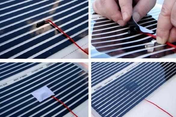 Монтаж температурного датчика для пленочного теплого пола