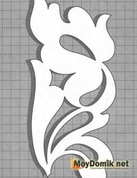 Эскиз наличников на окна - орнамент из плетущихся листочков-3