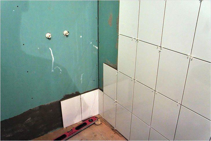 Укладка плитки на гипсокартонные стены