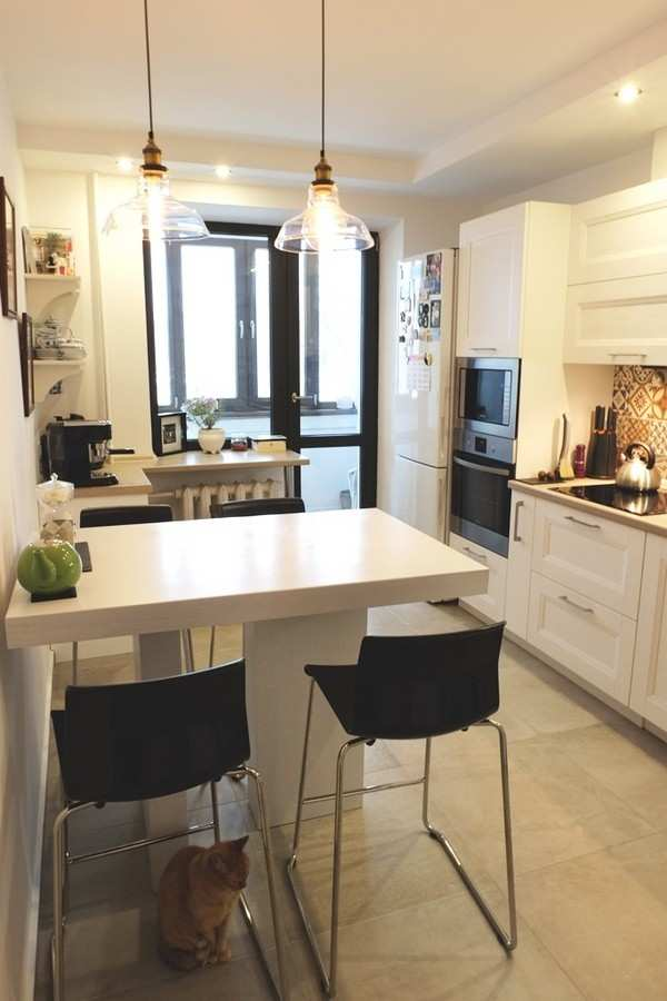 интерьер кухни с балконом фото, фото 15