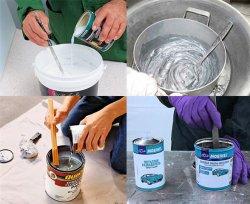Способы разведения краски для краскопульта