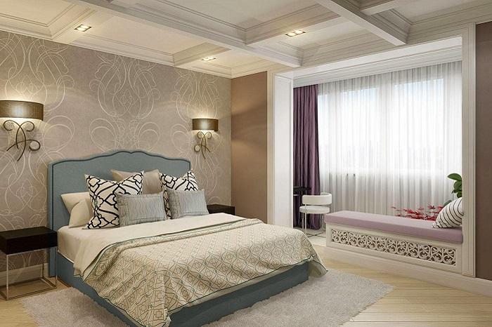 Дизайн спальни с лоджией_фото18