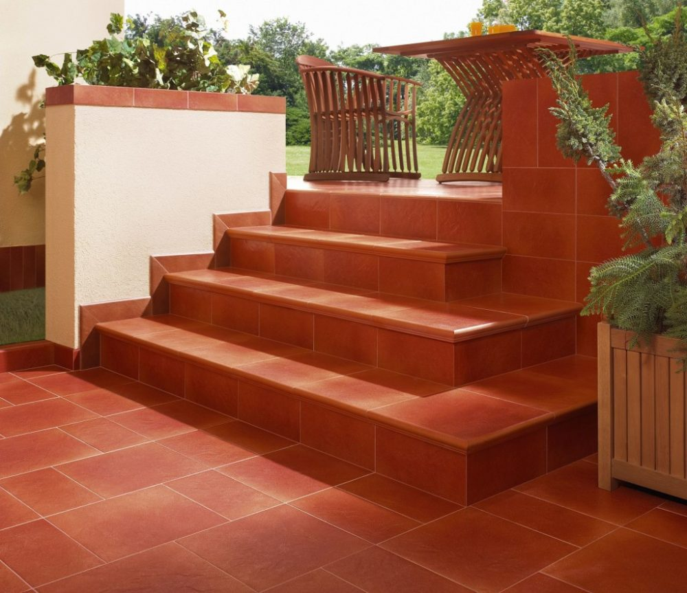 лестница с клинкерными ступенями
