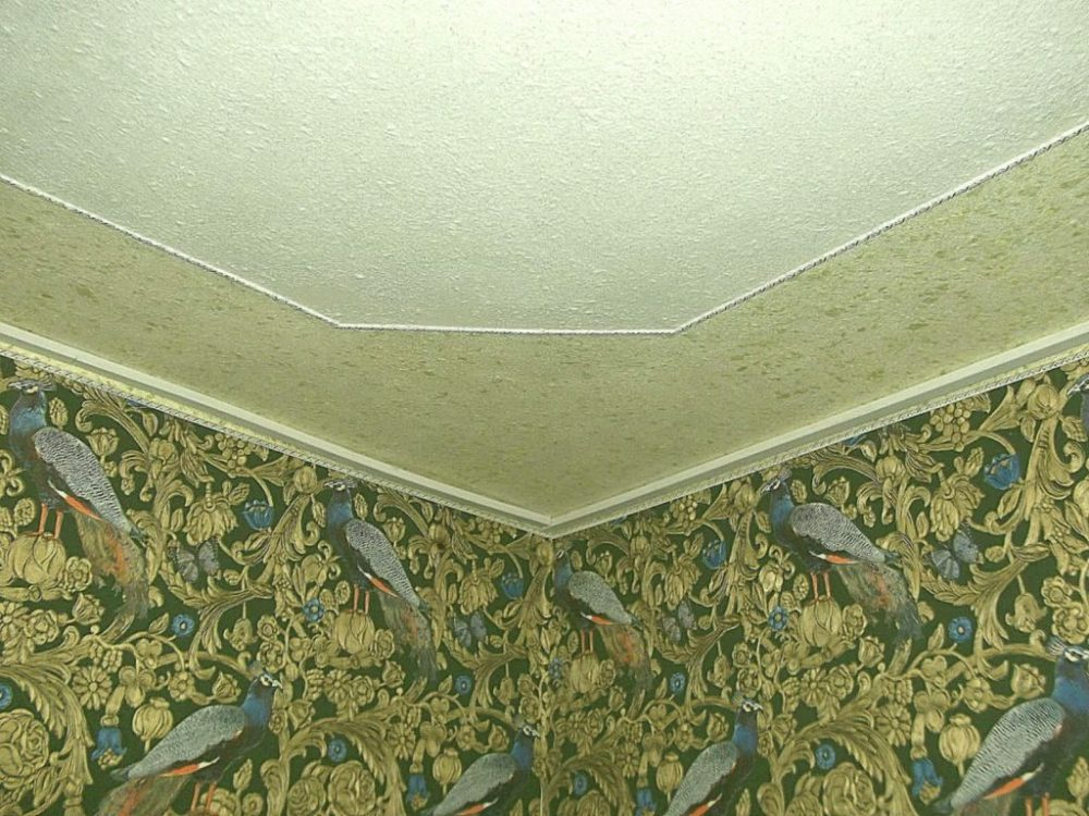 Отделка веществом стен и потолка