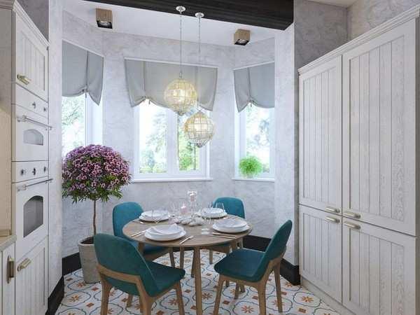 интерьер маленькой кухни с балконом, фото 23