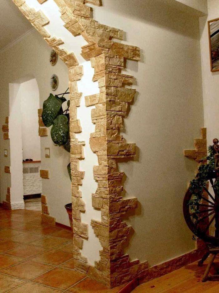 Необязательно облицовывать всю стену, небольшая декорированная часть смотрится куда лаконичней