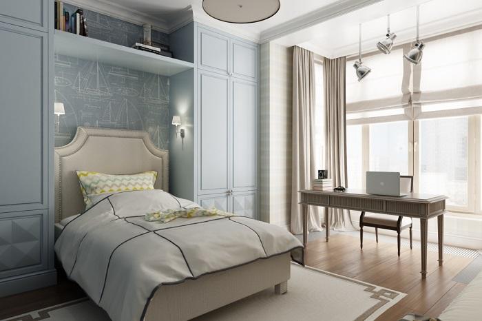 Дизайн спальни с лоджией_фото7