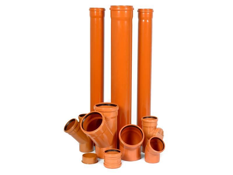 Ассортимент пластиковых труб для вентиляции