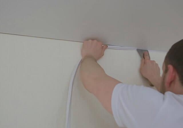 окантовка натяжного потолка