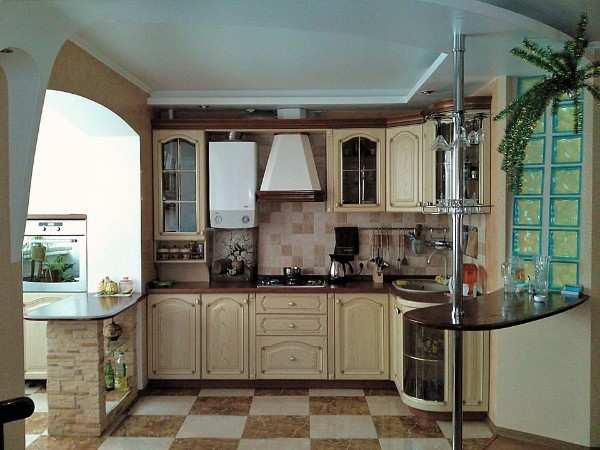 интерьер кухни гостиной с балконом, фото 33