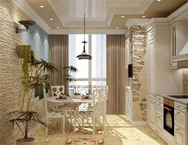 интерьер кухни с выходом на балкон фото, фото 40