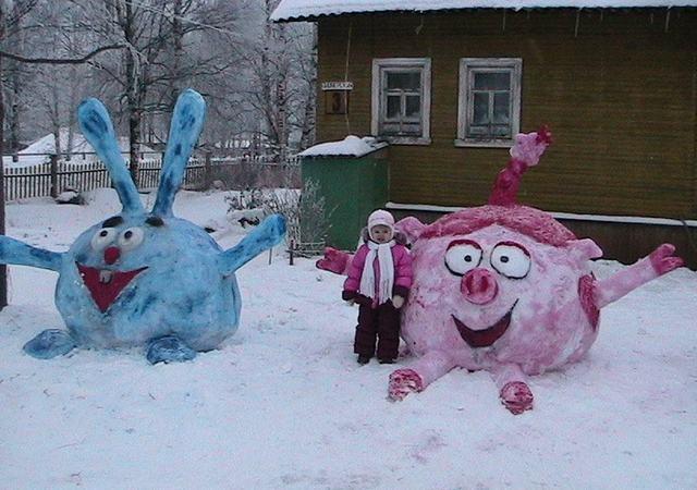 фигурки из снега