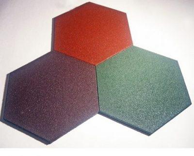 Один из вариантов каучуковой плитки