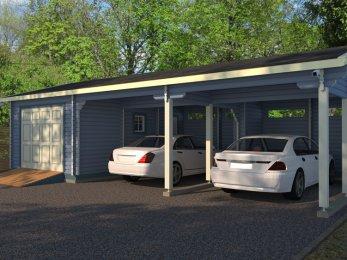 Проекты гаражей с хозяйственной частью: варианты и их воплощение