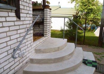 Полукруглое крыльцо своими руками из бетона: технология строительства