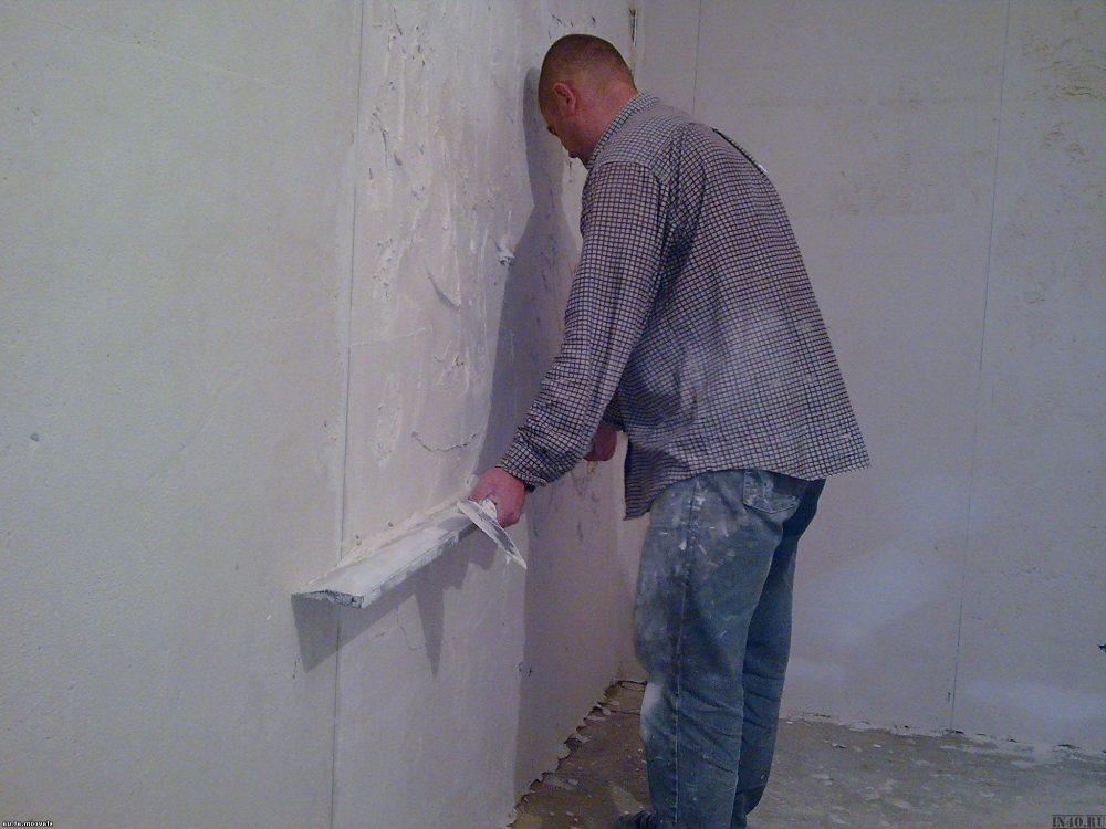 Фото: мастер класс выравнивания стены