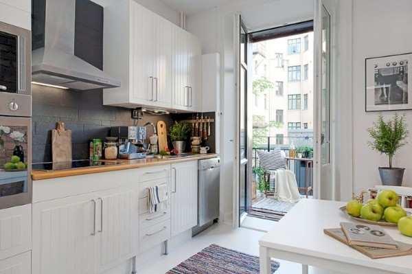 интерьер кухни с балконом фото, фото 59