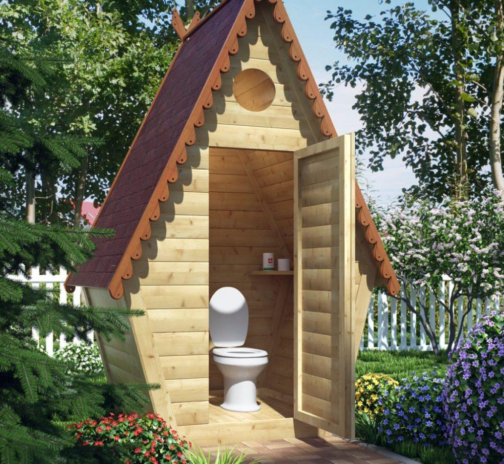 Какие действия следует провести для постройки туалета на даче своими руками