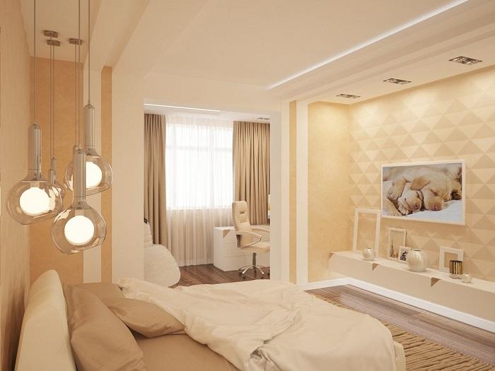 Дизайн спальни с лоджией_фото3