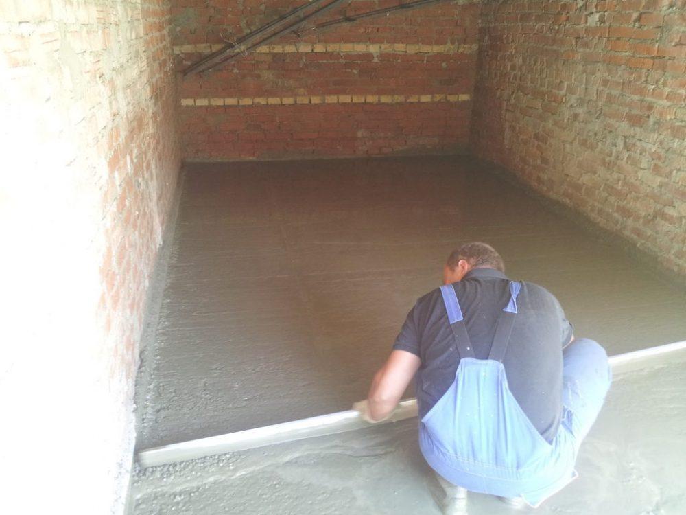 Расчет бетонного пола в гараже