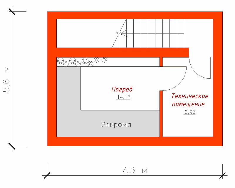 Схема гаража на два места с погребом