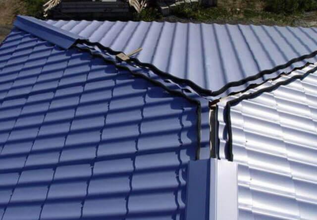 вентиляция конька крыши под металлочерепицу