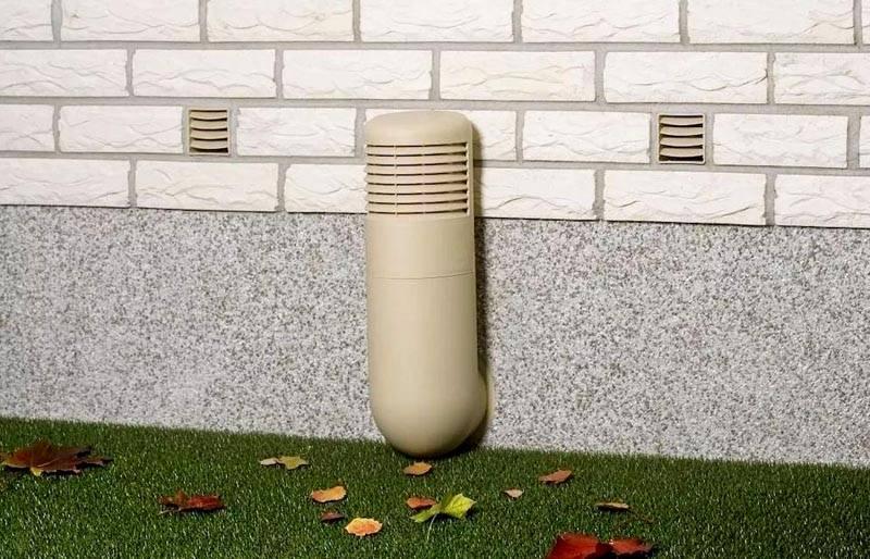 Забор воздуха для вентиляции выглядит довольно эстетично
