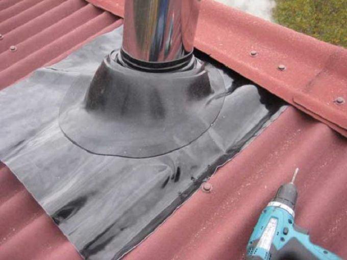 Резиновый уплотнитель для дымохода
