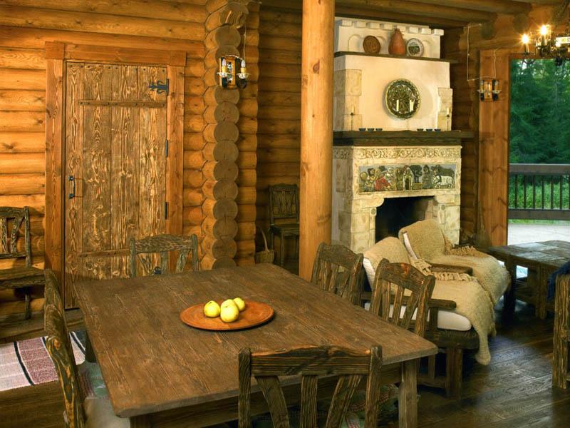 Дом шале интерьер