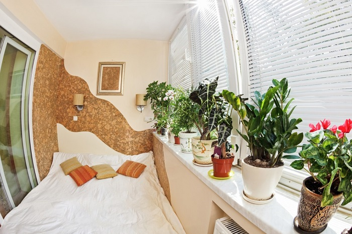 Дизайн спальни с лоджией_фото16