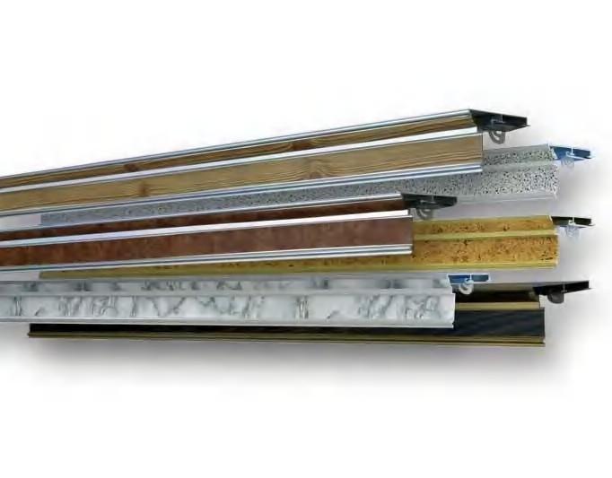 Алюминиевые потолочные карнизы для штор