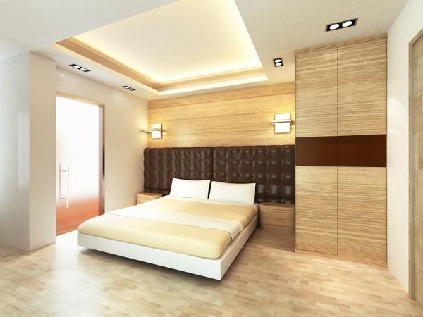 Отделка стен панелями МДФ в спальне встречается крайне редко