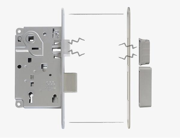 Centro - магнитный замок с засовом. Магнитная защелка обеспечивает чрезвычайно тихую работу