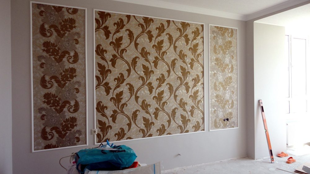 Декор стен в спальне своими руками жидкими обоями
