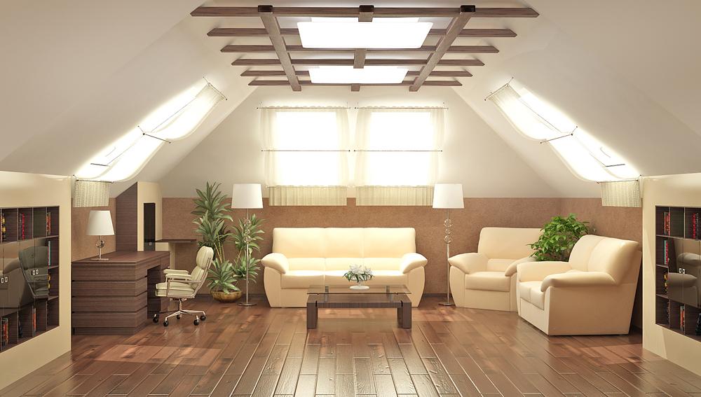Деревянная элегантная конструкция на потолке разбавит его монотонную поверхность