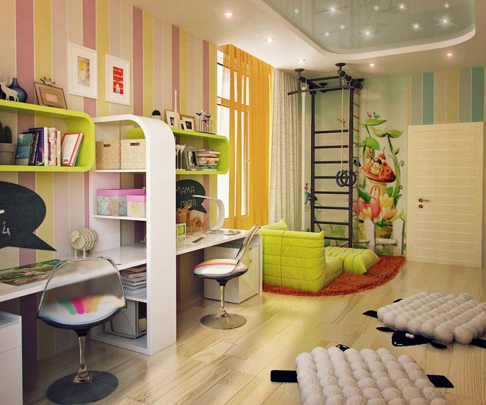 Идеальное зонирование детской комнаты для девочек