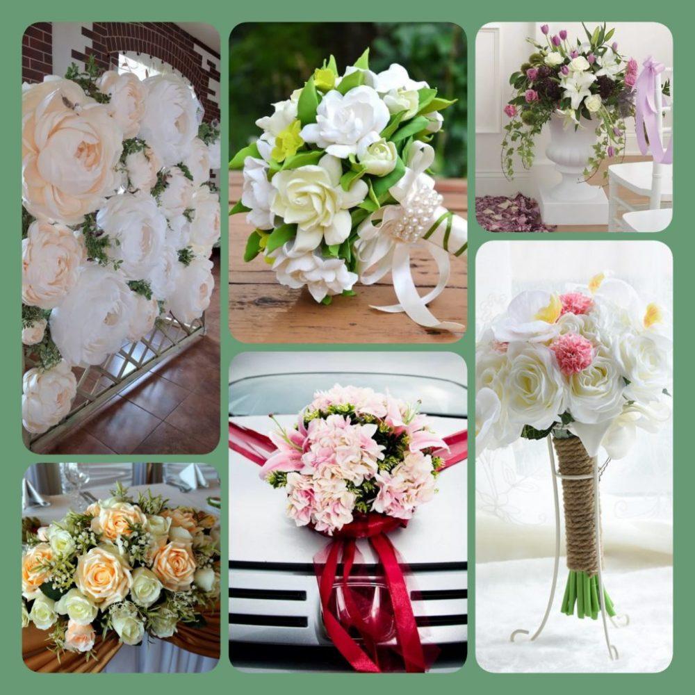 Искусственные свадебные цветы