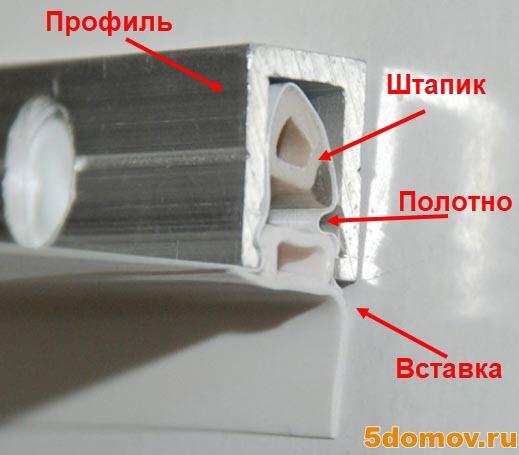 Как снять натяжной потолок со штапиковым (клиновым) типом крепления | Как снять натяжной потолок своими руками
