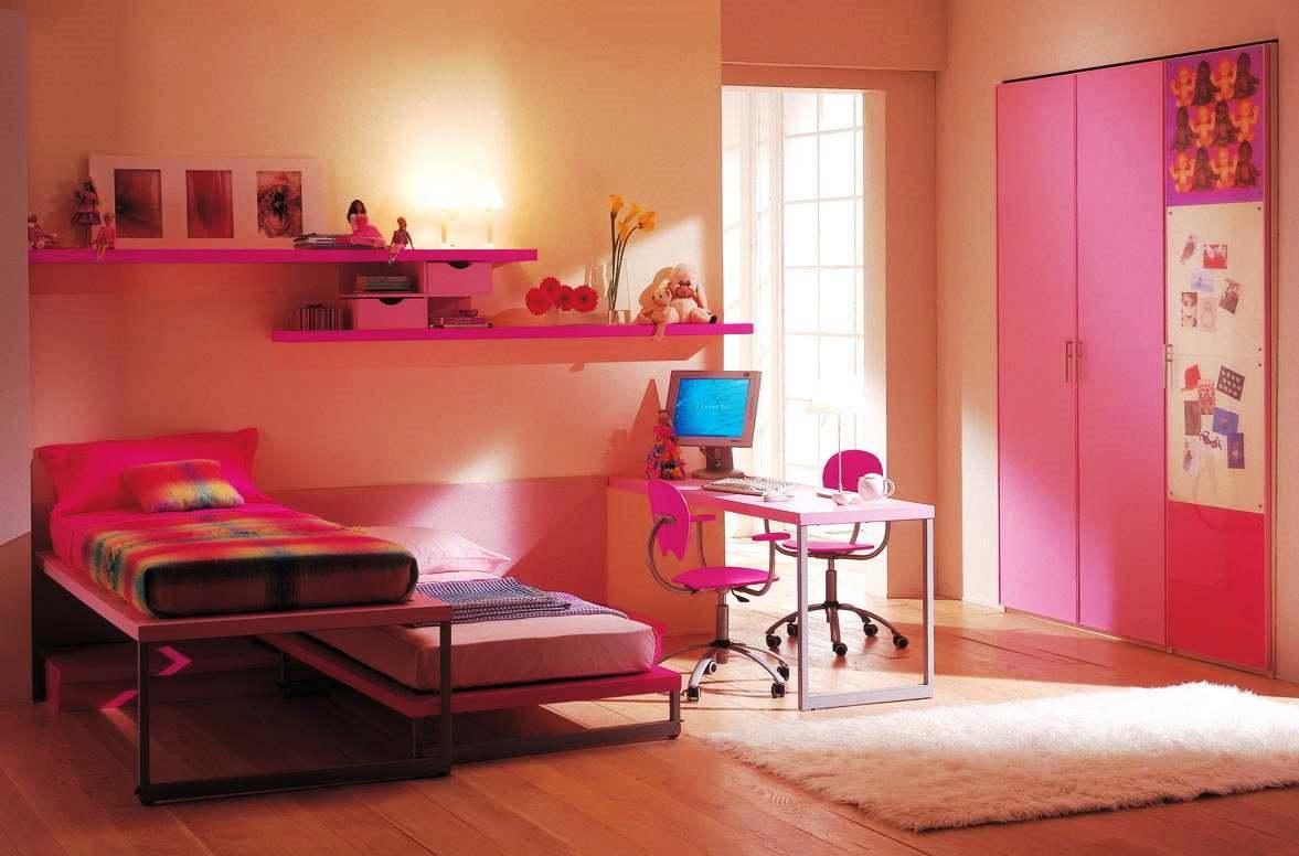 Комната в розовых тонах для двух девочек
