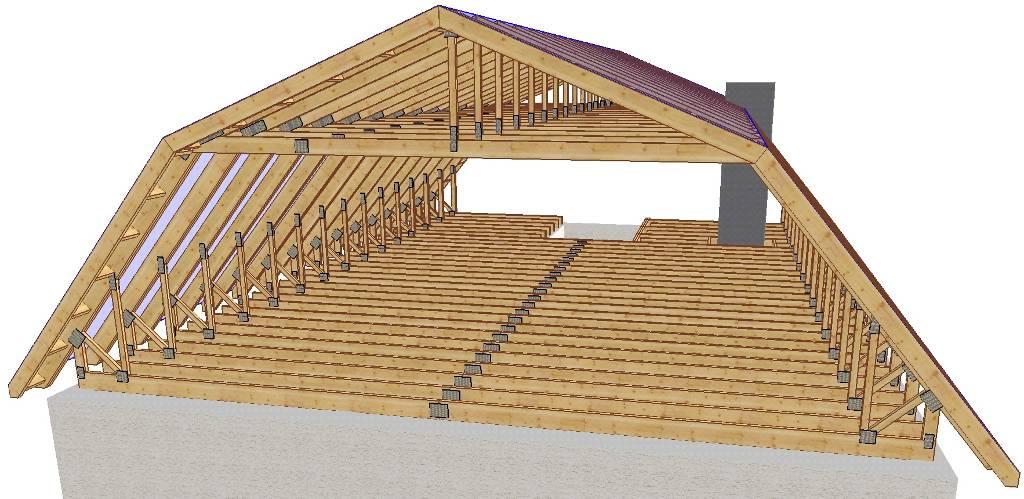 Мансардная крыша с жилым чердачным помещением