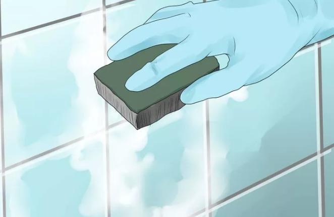 Мытье стен раствором соды