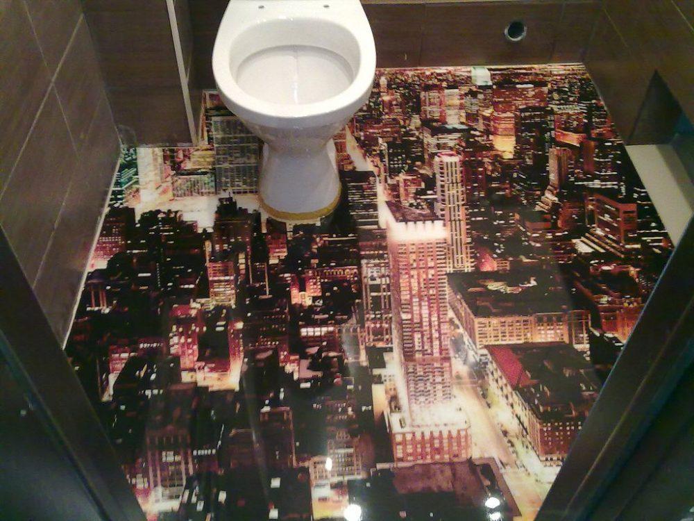 Наливной 3Д пол в туалете
