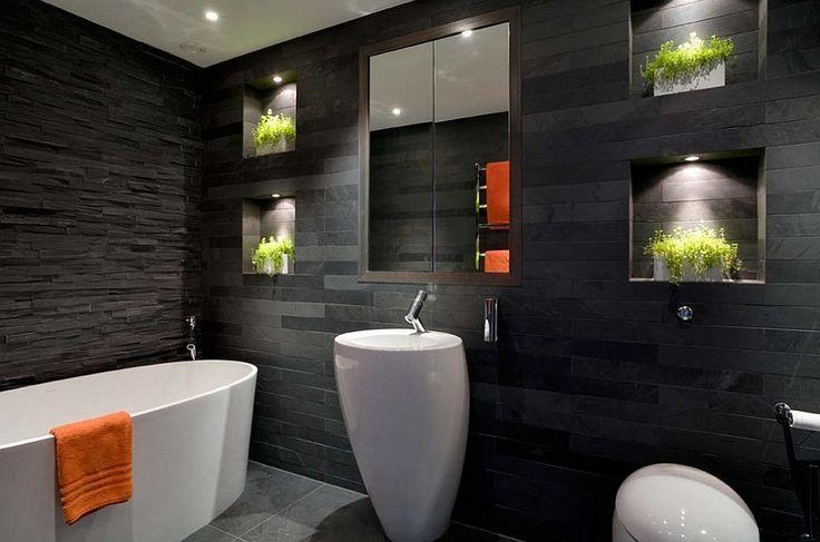 Стильная ванная комната с нишей в стене