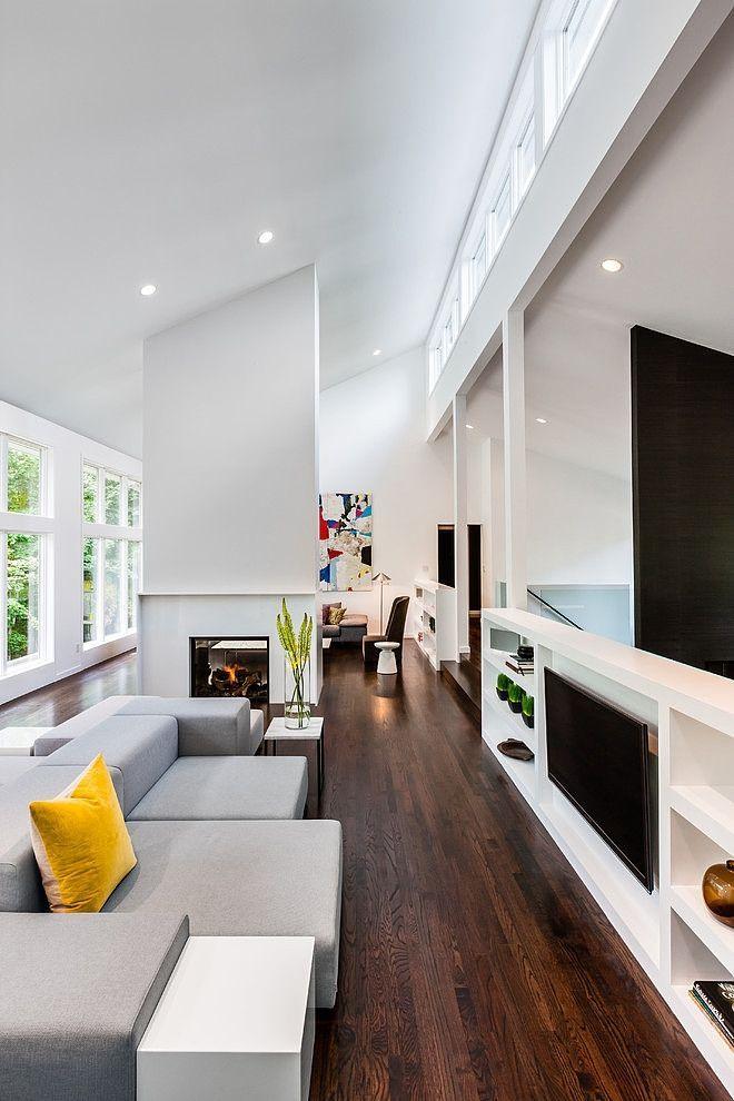 Ещё одно решение установки телевизора в гостиной
