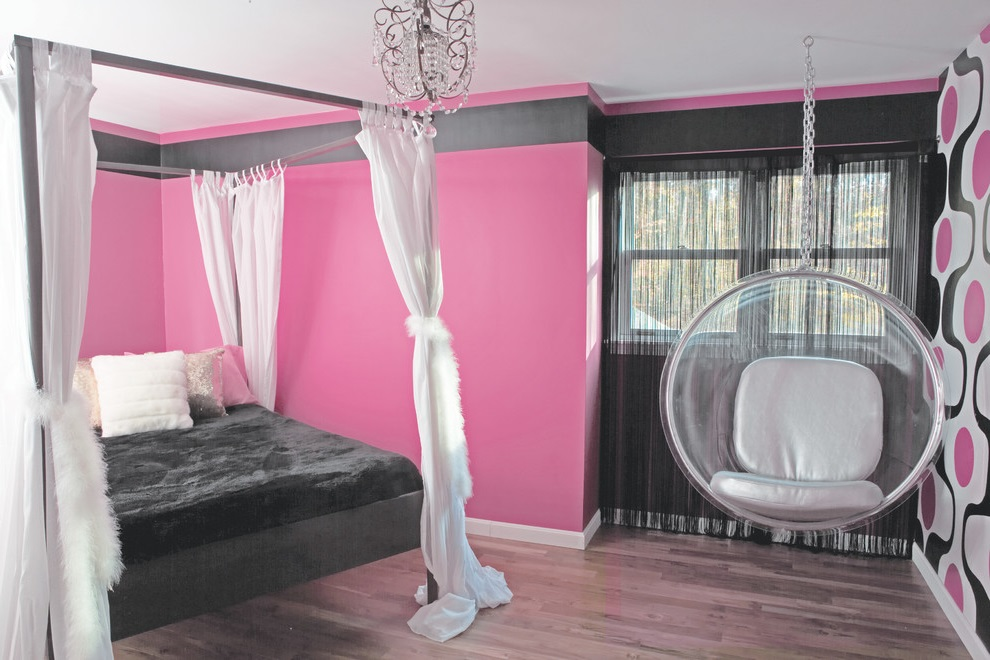 Pink-Theme-for-Girl-Bedroom
