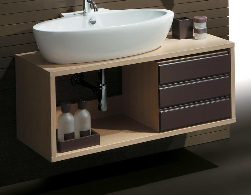 Подвесная тумба под раковину в ванную