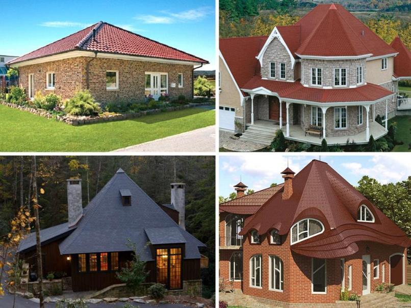 Варианты шатровой крыши