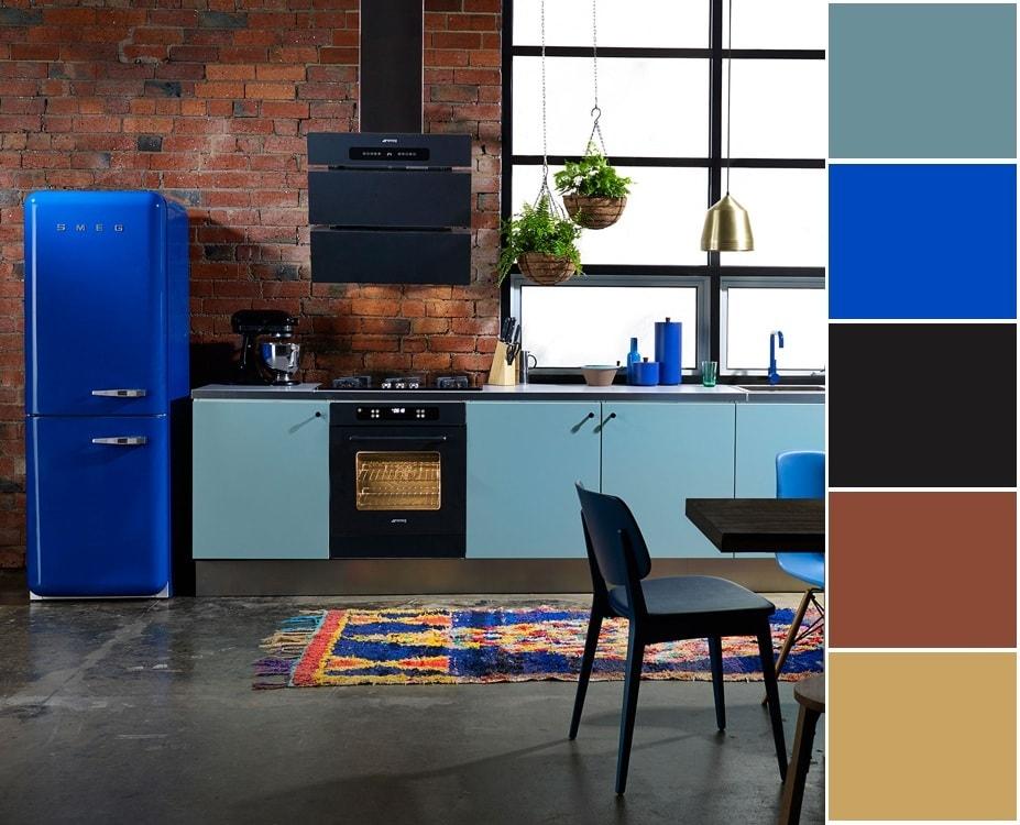 Утонченный и выдержанный дизайн интерьера кухни в стиле лофт