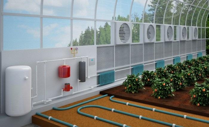 Система отопления в теплице